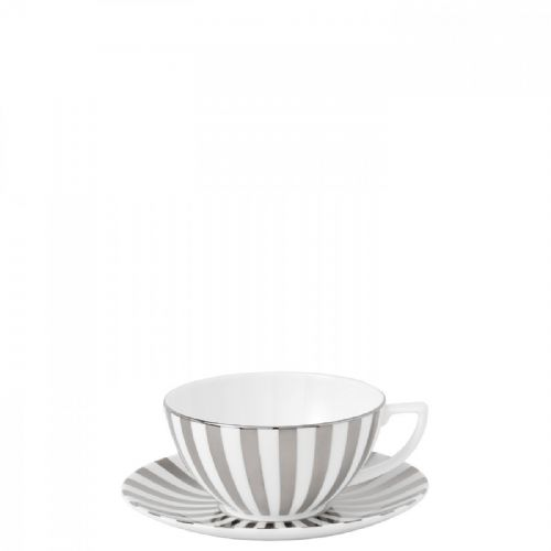 Jasper Conran Platinum Striped Teacup